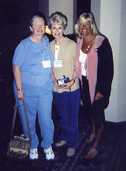 Joan with Pat and Joan H.